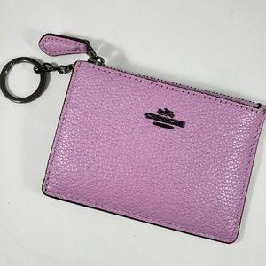 Coach Mini Skinny ID Keychain Wallet / Case